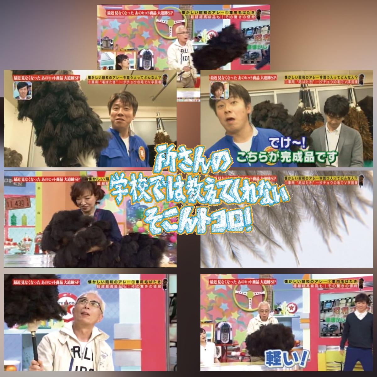 松本羽毛合同会社毛ばたき+「テレビ東京 所さんの学校では教えてくれないそこんトコロ!」